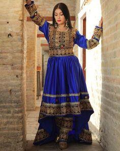 Saneen Royal Blue - Qhad Mega Ma Dress