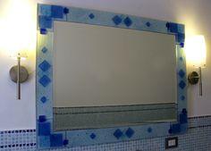 Specchio. Vetrofusione e smalti