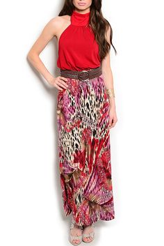 DHStyles Women's Burgundy Black Sexy Animal Print  Halter Maxi Dress with Belt - Large #sexytops #clubclothes #sexydresses #fashionablesexydress #sexyshirts #sexyclothes #cocktaildresses #clubwear #cheapsexydresses #clubdresses #cheaptops #partytops #partydress #haltertops #cocktaildresses #partydresses #minidress #nightclubclothes #hotfashion #juniorsclothing #cocktaildress #glamclothing #sexytop #womensclothes #clubbingclothes #juniorsclothes #juniorclothes #trendyclothing #minidresses…