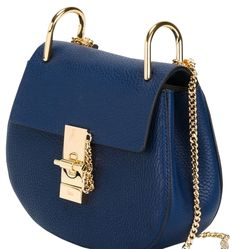 Drew Mini Chloe 'drew' Navy Blue Cross Body Bag