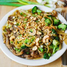 Asian pasta with broccoli and mushrooms by JuliasAlbum.com, via Flickr