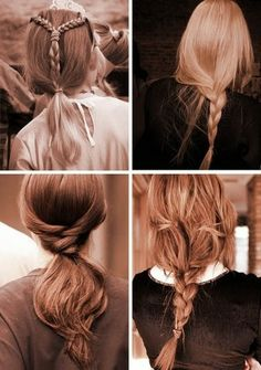 Uzun saç örgü modelleri