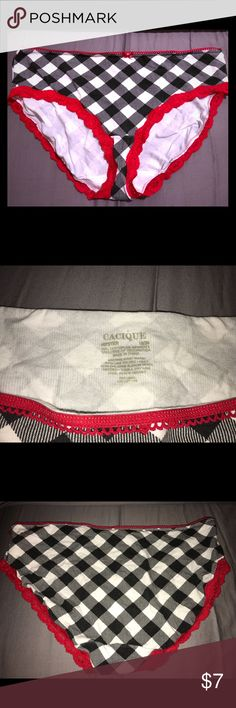 Cacique Panty size 18/20 Never worn panty from Cacique. I took the tags off and I put it in my drawer. I thought I may fit into them but I have not lost weight. Cacique Intimates & Sleepwear Panties