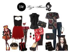 """""""Ever After High"""" by sayashadowhunter ❤ liked on Polyvore featuring Pretty Polly, Disney, Clover Canyon, Christian Louboutin, Braccialini, rag & bone, MICHAEL Michael Kors, Philipp Plein, Soo Lee and Topshop"""