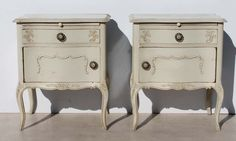 2 French Style Carved Vintage Bedside Cabinets Condition:  Used  2 French Style Carved Vintage Bedside Cabinets  size per cabinet: 570 L x 400 W x 700 H  the cabinets also have loose glass tops  R5999 for both  Cell 076 706 4700  Tel 021 - 558 7546  www.furnicape.co.za  0506 Bedside Cabinets Vintage, Bedside Cabinet Size, Bedside Cabinet, Furniture, Headboard, Vintage, Cabinet, Carving, Home Decor