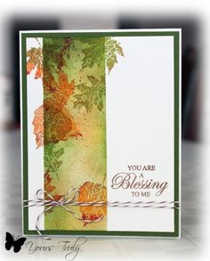 very pretty card with sponging, splattering, and stamping.... LOVE it!