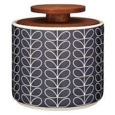 Buy Orla Kiely Linear Stem Storage Jar, Navy, from our Kitchen Accessories range at John Lewis & Partners. Orla Kiely, Jar Storage, Kitchen Storage, Food Storage, Storage Ideas, Terracotta, Kitchen Jars, Banks Kitchen, Kitchen Ideas