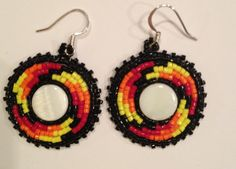 Native American beaded earrings on Etsy, $18.71