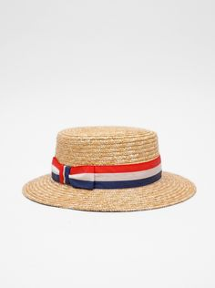 2233aad4d5f Present Boater Hat Red White Blue. For the babe. Boater Hat