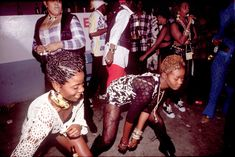 Dancehall Girls, Kingston Jamaica, Cargill Avenue, Circa 1993. #JamaicaDancehall  Photo © Wayne Tippetts