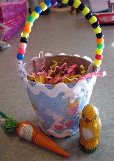 Musings from Kim K.: Peat Pot Easter Baskets...2 versions