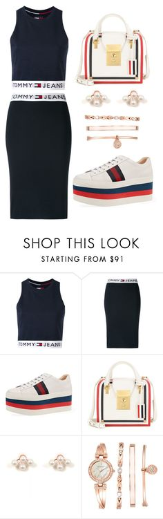 """❤️❤️❤️❤️"" by maryamlovesbeauty ❤ liked on Polyvore featuring Tommy Hilfiger, Gucci, Thom Browne and Anne Klein"