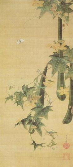浮遊する植物 「糸瓜群虫図」