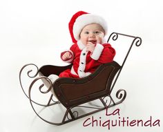 Picture of Adorable young baby wearing a santa claus suit and hat sitting in a metal Christmas snow sleigh stock photo, images and stock photography. Baby Christmas Photos, Xmas Photos, Babys 1st Christmas, Merry Christmas, Christmas Time, Christmas Scenes, Christmas Wishes, Vintage Christmas, Christmas Ideas