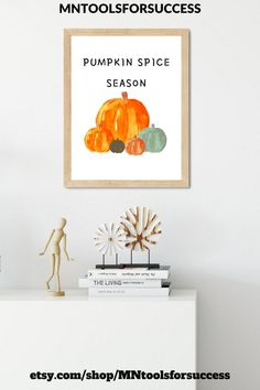 'Pumpkin spice season' printable is perfect Fall decor,Halloween decor and Thanksgiving decor.Make your house even more cozy and stylish with this beautiful fall print.This autumn and fall wall art is ideal to decorate your hallway or entryway for the holidays.Pumpkin sign | Autumn print | Fall printable | Pumpkin decor ideas | Fall farmhouse decor | Pumpkin decorating ideas fall #pumpkinspiceprint #pumpkinwallart #fallwalldecor