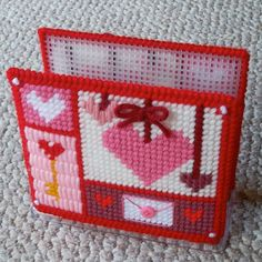 Plastic Canvas Valentine Hearts Napkin Holder by ReadySetSewbyEvie, $5.00. My Etsy store is now OPEN!!! Please come check it out. . .new merch will be arriving soon!  [Note: This listing is for the 2 plastic canvas sleeve covers, but does NOT include the  napkin holder itself. Thank you!]