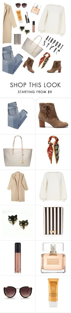 """Travel"" by ravenclaw-phoenix ❤ liked on Polyvore featuring Mix Nouveau, Sole Society, Michael Kors, Valentino, Mara Hoffman, Helmut Lang, Henri Bendel, L'Oréal Paris, Givenchy and Rebecca Taylor"