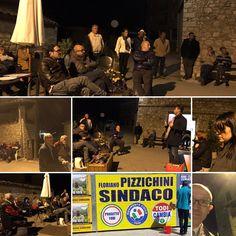 Todi, 25 maggio 2017. Bella serata nella piazzetta di Camerata (splendido paese, grazie dell'accoglienza) per Floriano Pizzichini Sindaco di Todi (con Claudio Ricci). 