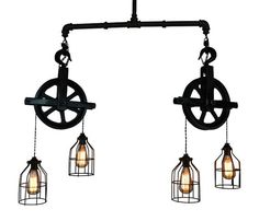 Hey, I found this really awesome Etsy listing at https://www.etsy.com/listing/225273535/ceiling-lighting-industrial-pulley-light