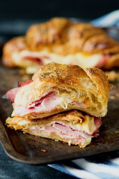 cheese croissant with honey mustard glaze ham and cheese croissant