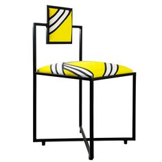 Capri Tria Giallo Iron Chair - Timeless furniture handmade in Italy: tables, chairs, sideboards and cabinets - Home Décor and Interior Design ideas from Italy's finest artisans - Artemest