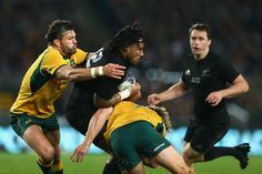 Ma'a Nonu Photos Photos - Ma'a Nonu of the All Blacks is tackled during The…