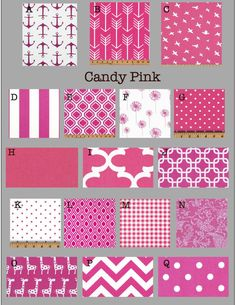 Custom Baby Crib Bedding- Design Your Own Bedding- Dorm Bedding- Duvet Cover- Glider Cushions- Candy Pink- bright pink
