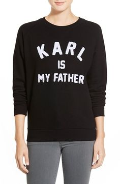 ELEVENPARIS 'Karl is My Father' Fleece Pullover available at #Nordstrom