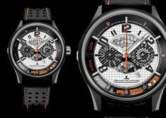 The Amvox Chronograph is a collaboration between Jaeger LeCoultre and Aston Martin.