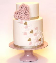 "Ruffle Hearts Cake - Sometimes ""simple"" is very pretty!"