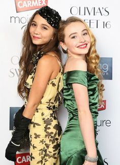 Rowan Blanchard and Sabrina Carpenter from girl meets world My 50th follower gets CUTECOLORIE gets a shoutout