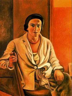 by Andre Derain  10 June 1880 – 8 September 1954) Portrait of Alice Derain, 1921  private collection - Paris