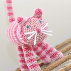 Natural Toy Crochet Cat by SnowFallStudio