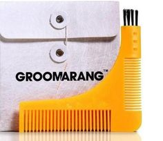 Beard Styling and Shaping Template Comb Tool, Groomarang, Beard Shapes, Edge Design, Shaving, Bro, Templates, Brushes, Join, Health, Style