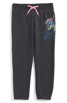 Roxy 'Catch a Wave' Graphic Sweatpants (Toddler Girls & Little Girls)