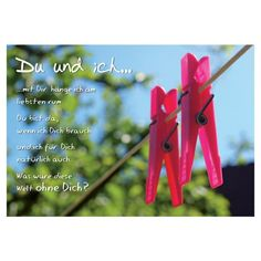 Poetische Postkarte Liebe Lustig: Du Und Ich. Mit Dir Hänge Ich Am Liebsten  Rum