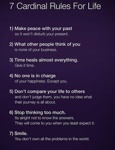 7 fair rules for yourself :)