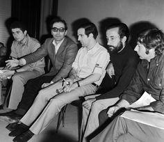Claude Lelouch, Jean-Luc Godard, Francois Truffaut, Louis Malle and Roman Polanski