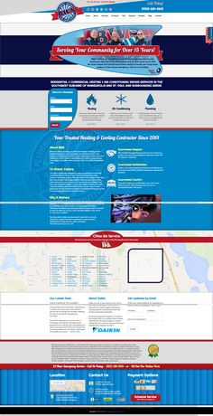 BWS Heating & Air Conditioning - EDEN PRAIRIE, MN heating and air conditioning HVAC website custom design and marketing through Online-Access, Inc.  Company website: http://www.bwsheatingandair.com/