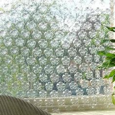Cortina ecológica con botellas de plástico!