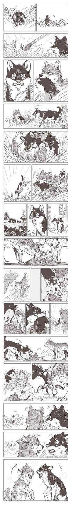 Fantasy Drawings, Fantasy Art, Wolf Comics, Monster Under The Bed, Comics Toons, Furry Comic, Short Comics, Cute Comics, Cat Art