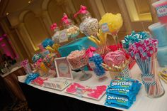 Pink and blue Candy Buffet
