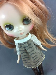 Blythe Smock Style Dress for middie Little Moustaches by jeds123 on Etsy.