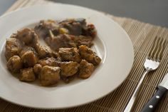 Chicken delicacies with mixed aromatic herbs of Provence and white wine