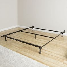 Queen-Size Glided Bed Frame Insta Lock Sleep Easy Simple Setup Guest Room Home #InstaLockBeds
