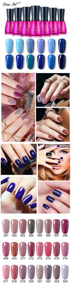 Prefect Beau Gel 7ml Blue Color Series UV Gel Nail Polish Semi Permanent UV Lacquer Nails Pure Nail Art 12 Colors Nail Varnish