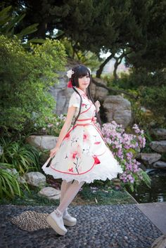 ✦✧Short Notice✧✦: ONLY 1 DAY left to pre-order Lathe's Castle ***Peach Blossom*** Printed OP >>> http://www.my-lolita-dress.com/lathe-s-castle-peach-blossom-printed-lolita-op-dress-lca-8