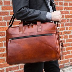 8d17a0da1 Bosca Old Leather Single Gusset Stringer Bag Briefcase For Men, Italian  Leather, Travel Bags