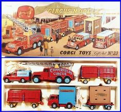 GS23 Corgi Toys Chipperfield Circus set with Land Rover