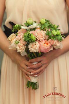 персиковый цвет свадьбы букет невесты #wedding #flowers #peach